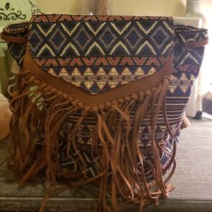Handbags - Aztec patterned medium size backpack